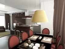 Modern interior.Kitchen Royalty Free Stock Photos