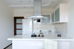 Modern interior.Kitchen Stock Photos