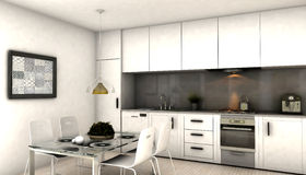 Modern interior kitchen Royalty Free Stock Photos