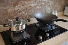 Modern interior kitchen Stock Images