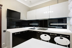 Modern interior. Kitchen Stock Images