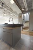 Modern interior with kitchen island Stock Photo
