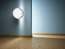 Modern interior with lamp Royalty Free Stock Photo