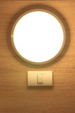 Modern interior  lamp have a switch Royalty Free Stock Image