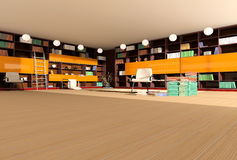 Modern interior of library Royalty Free Stock Images
