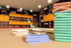 Modern interior of library Stock Photography