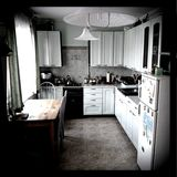 Modern interior living of ordinary people. Royalty Free Stock Image