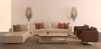 Modern interior of living-room. Stock Photos