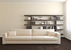 Modern interior of living-room. Royalty Free Stock Image
