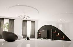 Modern interior of living room 3d render Stock Photo