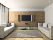 Modern interior of living-room Royalty Free Stock Photo