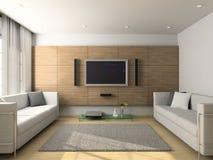 Modern interior of living-room royalty free illustration