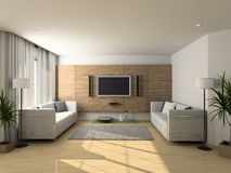 Modern interior of living-room Royalty Free Stock Photos