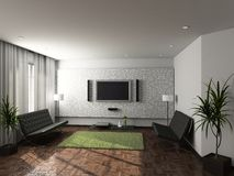 Modern interior of living-room Royalty Free Stock Image
