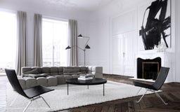 Modern interior living room Stock Photos