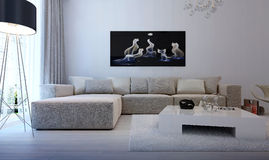 Modern interior living room Royalty Free Stock Photos
