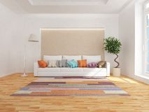 Modern interior of living room. 3d rendering royalty free stock photography