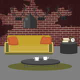 Modern Interior. Living Room in Grunge Style Stock Image