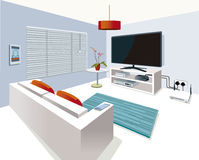Free Modern Interior Living Room In Smart Home Stock Photography - 79190942