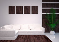 Modern  interior living room, lounge Stock Images