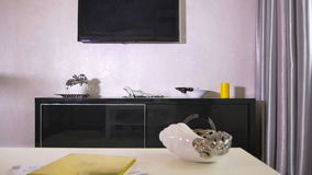 Modern interior of a living room stock footage