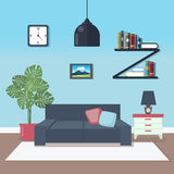 Modern Interior. Living Room. Room Design Royalty Free Stock Photography
