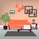 Modern Interior. Living Room. Room Design Royalty Free Stock Images