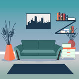 Modern Interior. Living Room. Room Design Royalty Free Stock Photo