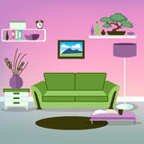 Modern Interior. Living Room. Room Design Royalty Free Stock Photos