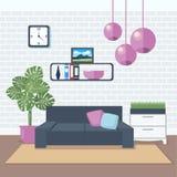 Modern Interior. Living Room. Room Design Stock Image