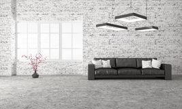 Modern interior of living room with sofa 3d rendering Stock Images