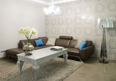Modern interior. Living-room Stock Photography