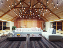 Modern interior loft Stock Photo