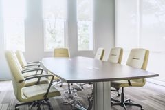 Modern interior of meeting room stock photography