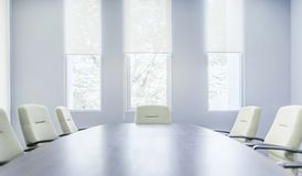 Modern interior of meeting room royalty free stock images
