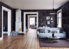 The Modern interior Stock Photo