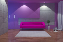 Modern interior at night Stock Photo