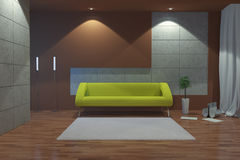 Modern interior at night Stock Photo