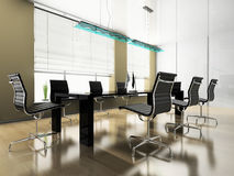 Modern interior of office Stock Photos