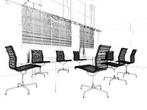 Modern interior of office Royalty Free Stock Photo