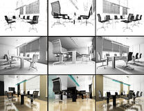Modern interior of office Royalty Free Stock Photography