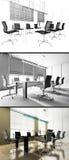 Modern interior of office Royalty Free Stock Photos