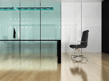 Modern interior of office. The modern interior of office 3d image Stock Photos