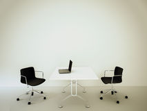 Modern interior office. Modern comfortable interior office and big space
