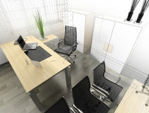 Modern interior of office Stock Photography