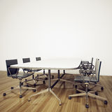 Modern interior office. Modern comfortable interior office and empty space Royalty Free Stock Photos