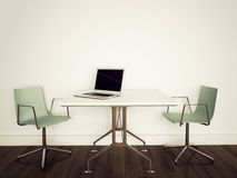 Modern interior office. Modern comfortable interior office and empty space Stock Image