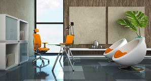 Modern interior of the office Royalty Free Stock Photo