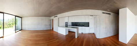 Modern interior panoramic home Royalty Free Stock Photography