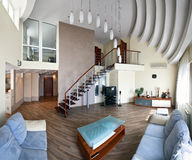 Modern interior (panoramic photo) Stock Images